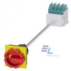 3LD2013-1TL53 SENTRON, роз'єднувач 3LD, аварійне відключення перемикач, 4-полюсний, Iu: 16 A