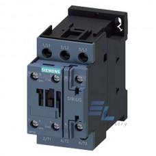 3RT2023-1AK60 Контактор Siemens 3RT, Іном. 9 А, АС 110 В, блок-контакти 1НО/1НЗ