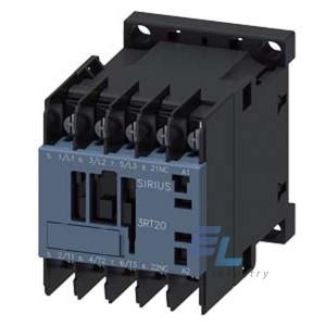 3RT2018-4AG62 Контактор Siemens 3RT, Іном. 16 А, АС 100 В, блок-контакти 1НЗ