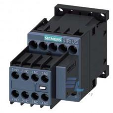 3RT2016-1CN27 Контактор Siemens 3RT, Іном. 9А, АС 220 В, блок-контакти 3НВ/2НЗ