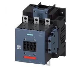 3RT1056-6AF36-3PA0 Контактор Siemens 3RT, Іном. 185 А, АС/DC 110…127 В, додаткові контакти 2НВ/2НЗ
