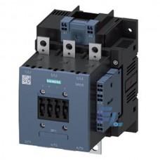 3RT1056-6AF36 Контактор Siemens 3RT, Іном. 185 А, АС/DC 110…127 В, додаткові контакти 2НВ/2НЗ